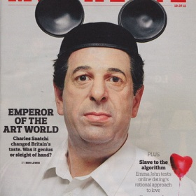 Charles Saatchi, because he moved fluently from advertising to art and created equal impact.