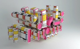Mondrian Balloon Engine